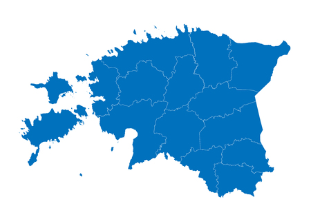 Map of estonia. High detailed vector map - estonia.