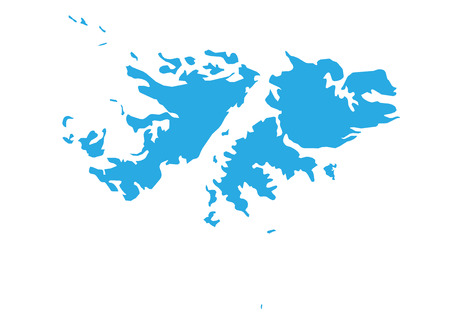 Map of falkland Islands. High detailed vector map - falkland Islands.