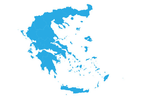 Map of greece. High detailed vector map - greece.