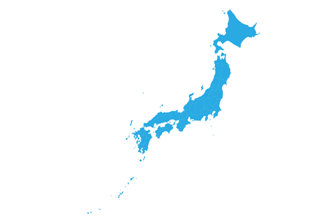 Map of japan. High detailed vector map - japan. Illustration