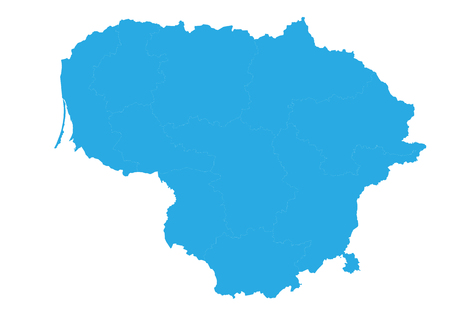 Map of lithuania. High detailed vector map - lithuania.