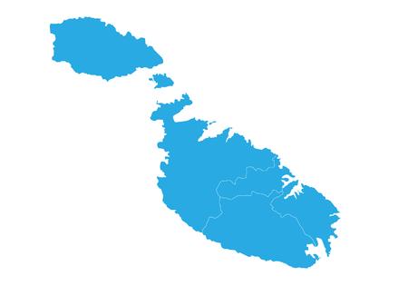 Map of malta. High detailed vector map - malta. Illustration