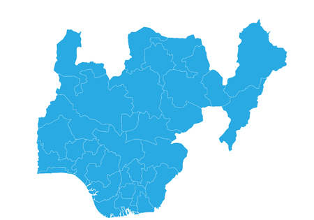 Map of nigeria. High detailed vector map - nigeria.