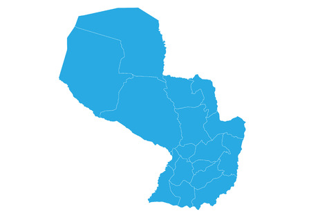 Map of paraguay. High detailed vector map - paraguay.