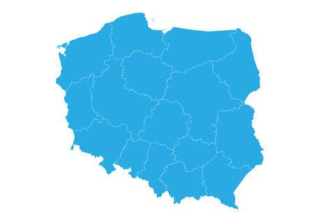 Map of poland. High detailed vector map - poland.