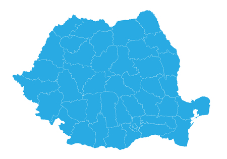 Map of romania. High detailed vector map - romania.