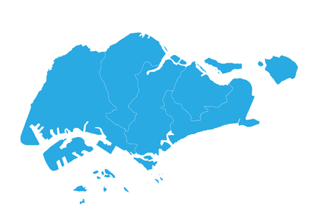 Map of singapore. High detailed vector map - singapore. 向量圖像