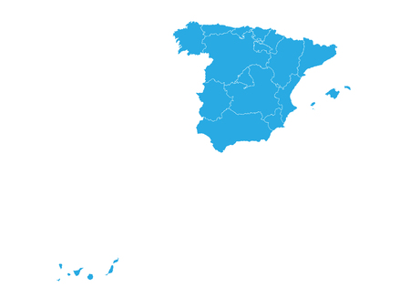Map of spain. High detailed vector map - spain. Illustration