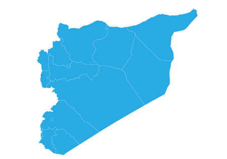 Map of syria. High detailed vector map - syria.