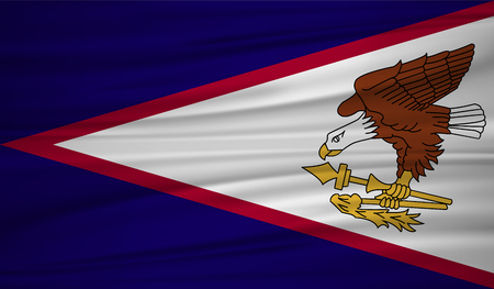 American Samoa flag vector. Vector American Samoa flag blowig in the wind. Illustration