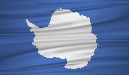 antarctica flag vector. Vector antarctica flag blowig in the wind.