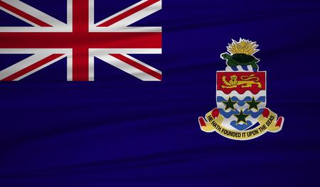 Cayman Islands flag vector. Vector flag of Cayman Islands blowig in the wind.