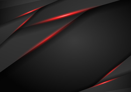 abstract metallic black Red frame sport design concept innovation background. Technology background with metallic banner. vector illustration.
