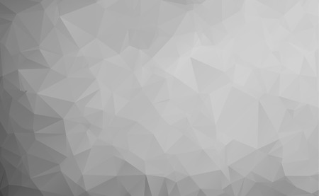 Vector abstract triangulated pale colorless background. Horizontal dynamic grey pattern. Geometric texture. Modern. Triangles. White, grey, black colors. Dark low poly fond. EPS 10. Diagonal gradation