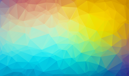 vector abstract irregular polygon background with a triangular pattern in color full rainbow spectrum colors Illustration