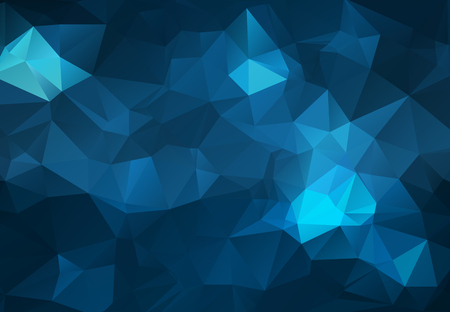 Abstract Dark blue polygonal illustration, which consist of triangles. Geometric background in Origami style with gradient. Triangular design for your business.