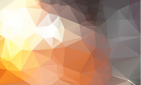 Abstract Light Orange, red polygonal pattern. A vague abstract illustration with gradient. The elegant pattern can be used as part of a brand book. Ilustração