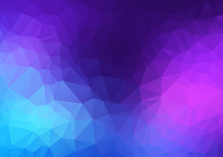 Abstract Pink, blue, Purple vector Low poly crystal background. Polygon design pattern. Low poly illustration, low polygon background.