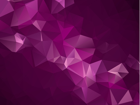 Abstract Dark Purple, Pink vector Low poly crystal background. Polygon design pattern. Low poly illustration, low polygon background. Ilustração