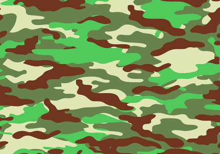 Camouflage pattern background. Shapes of foliage and branches. Military army camo background. Woodland style. vector illustration.