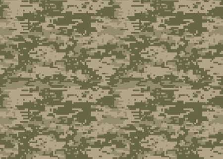 Digital camouflage pattern. Woodland  camo texture. Camouflage pattern background. Classic clothing style masking camo  print. colors forest texture. Design element. Vector illustration. Illustration