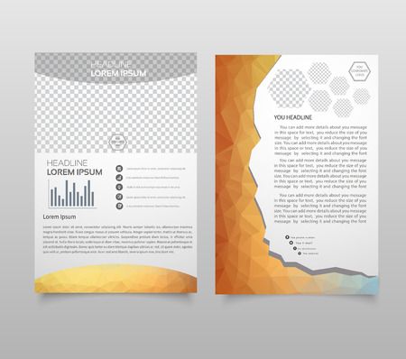 Abstract vector template design, brochure, Web sites, page, leaflet, with colorful geometric triangular backgrounds, logo and text separately. Ilustrace