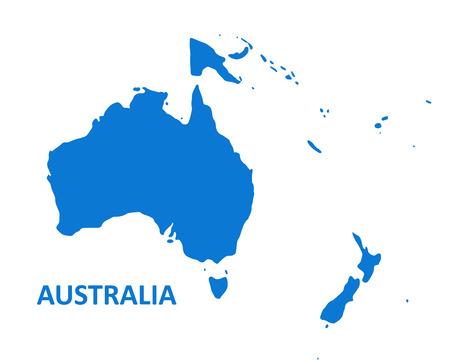 Australia Continent Map. vector illustration on white background. Illustration