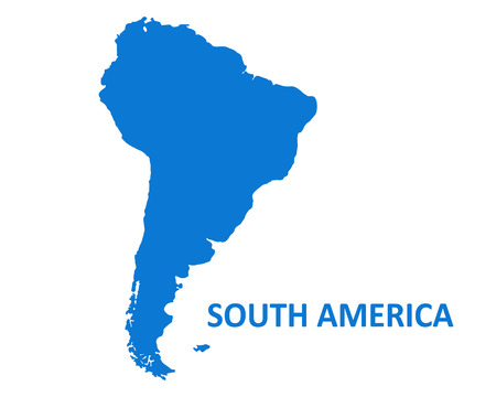 South America Continent Map. vector illustration on white background.
