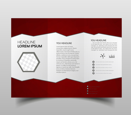 tri-fold brochures, square design templates. Molecular construction with polgonal design, scientific pattern on abstract polygonal background, modern triangle vector texture.
