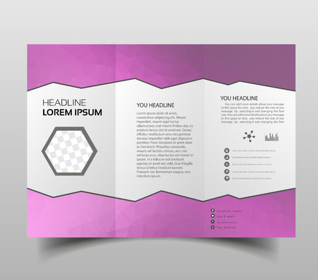 brochure design template polygonal tri-fold abstract triangles, Modern triangle presentation template. Business design background, brochure or flyer concept or geometric web banner