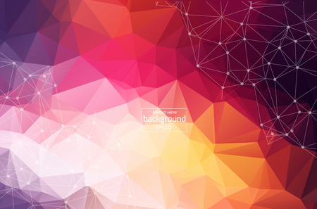 Light Multicolor vector layout with circles, lines. Design with connection of dots and lines on colorful background. Beautiful design for your business advert. Illustration
