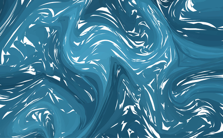 Vector marble imitation blue background. Fluid colorful shapes background.