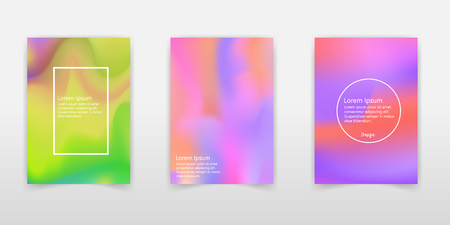 Gradient mesh abstract background. Plastic holographic backdrop with gradient mesh. 90s, 80s retro style. Iridescent graphic template for brochure, banner, wallpaper, mobile screen. 일러스트