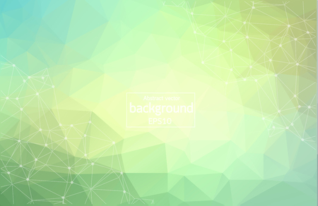 Abstract vector background, color gradient, geometry, lines and points