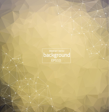 Geometric Vintage Polygonal background molecule and communication. Connected lines with dots. Minimalism background. Concept of the science, chemistry, biology, medicine, technology.