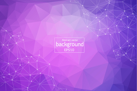 Dark Pink, Blue vector background with dots and lines. Abstract illustration with colorful discs and triangles. Completely new template for your brand book.