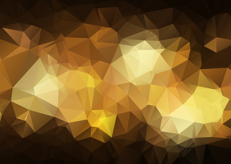 Abstract Dark yellow abstract polygonal background