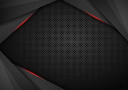 Technologiehintergrund mit nahtloser kreisförmiger perforierter Carbon-Lautsprechergrill-Textur für Internetseiten, Web-Benutzeroberflächen (UI) und Anwendungen (Apps). Vektormuster - Vektor