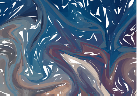 Bright Abstract Vector Background with Swirls and Waves. Extraordinary Blue Illustration for Design.