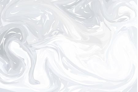 Fondo abstracto gris. Texturas de veteado de tinta. Ilustraciones de mármol dibujadas a mano, papel ebru aqua y estampados en seda. Técnica ebru tradicional turca. Pintura sobre agua Ilustración de vector