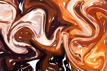 Unusual vector background. Abstract handmade texture. Beautiful painted backdrop with waves.