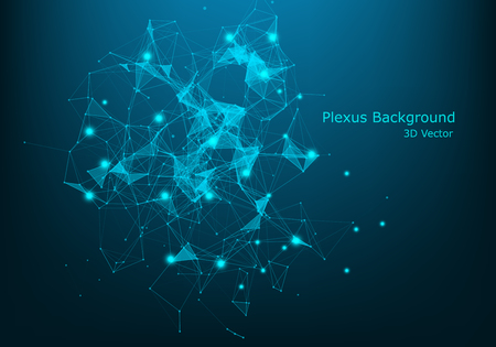 big data background of color point construction, vector network big data background. - Vector