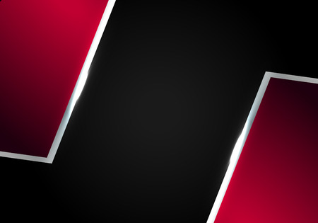 metallic red rectangle frame layout template sports concept background