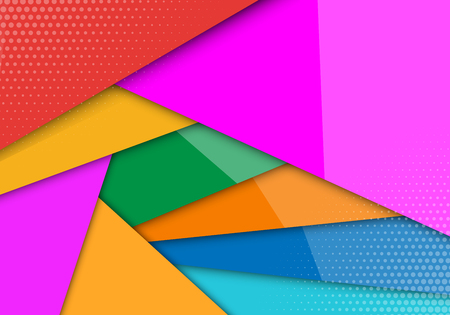 Modern style abstraction with composition made of various line shapes background. vector overlap layer on space for background design. Vector Illustration