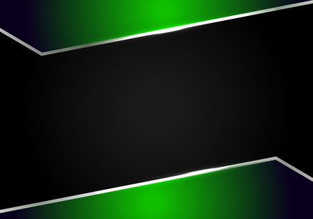 abstract metallic Green black frame layout modern tech design template background