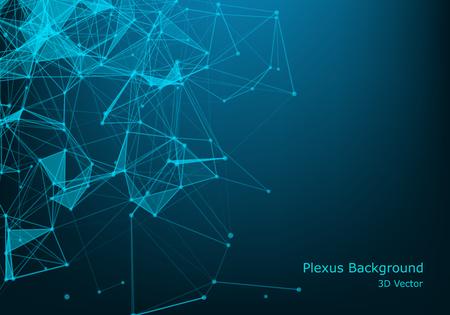 Abstrait espace polygonal low poly sombre avec points et lignes de connexion. Structure de connexion. Fond polygonale futuriste. Fond d'écran d'affaires triangulaire.