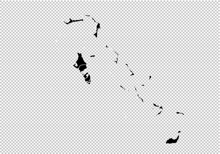 bahamas map - High detailed Black map with countiesregionsstates of bahamas. Afghanistan map isolated on transparent background. Ilustrace