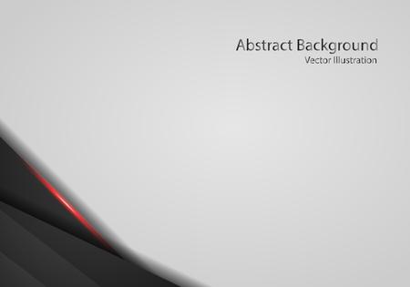 abstract metallic red black frame layout modern tech design template with white background. Illusztráció
