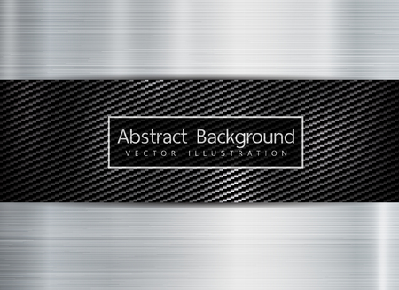 abstract metallic frame carbon kevlar texture on metal texture backgroun. Copyspace for text. Vektorové ilustrace