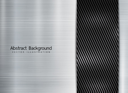 abstract metallic frame on carbon kevlar texture pattern tech sports innovation concept background. Copyspace for text.